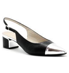 Grace zapato de fiesta, color: negro y plata