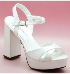 Coral 10cm sandalias de novia