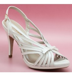 Irina sandalia de novia, blanco roto