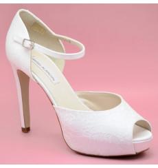 Ainara zapatos de novia encaje