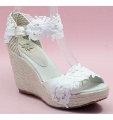 Melisa alpargata de novia, blanco roto