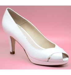 Lidia zapatos de novia blanco roto