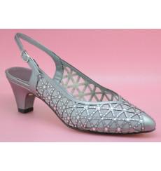 Merche pedrería zapato de fiesta ancho especial plata