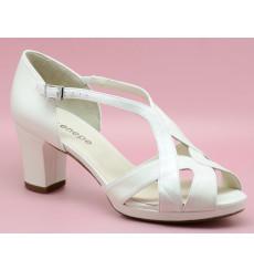 Norma sandalias de novia de tacón ancho