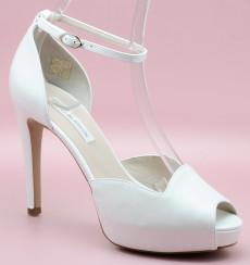 Alba peep toe de novia