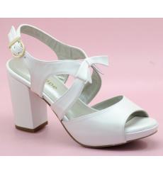 Hilda sandalias de novia de tacón ancho