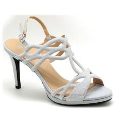 Jara sandalia de fiesta plata