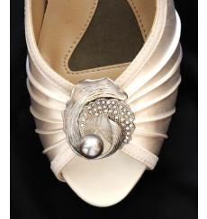 A_69 Broche de pedrería con perla: adornos para zapatos, shoe clip