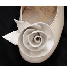A_71 Flor de piel, adorno de zapatos, shoe clip