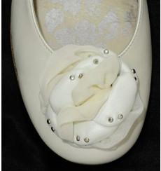 A_75 Flor de piel y tul, adorno para calzado