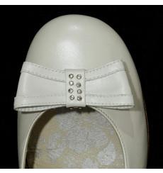 A_92 Lazo de piel con pedrería, adorno de zapatos