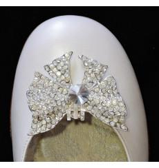 A_95 Broche lazo de pedrería, adornos para zapatos, shoe clip