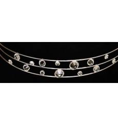 c_40 Tiara / diadema de novia de cristales