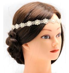 C_54 cinta diadema de novia de crochet