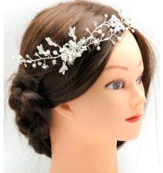 C_56 tiara flexible de novia con pedrería