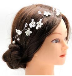 C_59 tiara cinta de novia de flores y pedrería