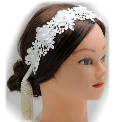 C_62 tiara diadema de novia de encaje