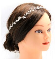 C_71 tiara flexible de novia con pedrería