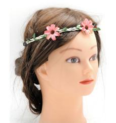 C_76 corona de novia de flores rosas