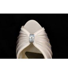 A_16  Cristal de swarovsky rectangular adorno para zapatos, shoe clip