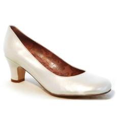 Blanca zapato de novia