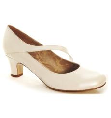 Nuria zapatos de novia, blanco roto