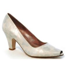 Isis zapatos de novia estampado plata