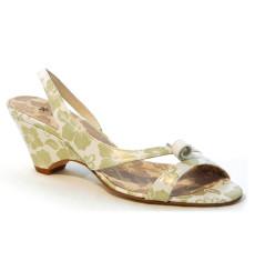 Lola estampado sandalia de novia y fiesta