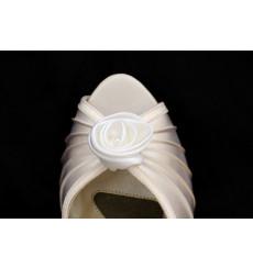 Rosa de raso: broches para zapatos, adornos para zapatos, shoe clip