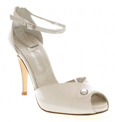 Idoia zapatos de novia: marfil claro