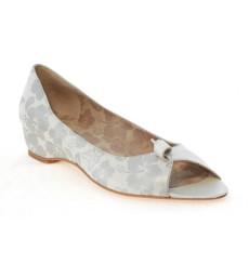 Flora estampado zapatos de novia