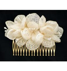 Floral peina tocado de novia