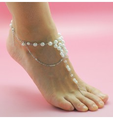 Joya de pie perlas