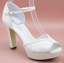 Zapato de novia con plataforma Ángela