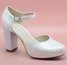 Zapato de novia con plataforma