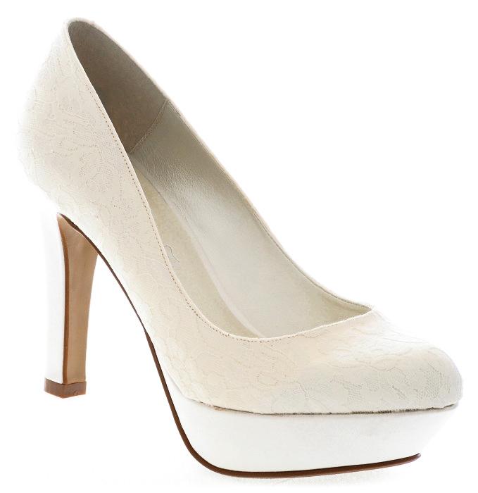 Zapatos de novia cómodos - Modelo Venus con encaje - Tacón de 9,5 cm