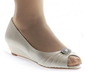 Zapatos novia salón tacón bajo Enepe