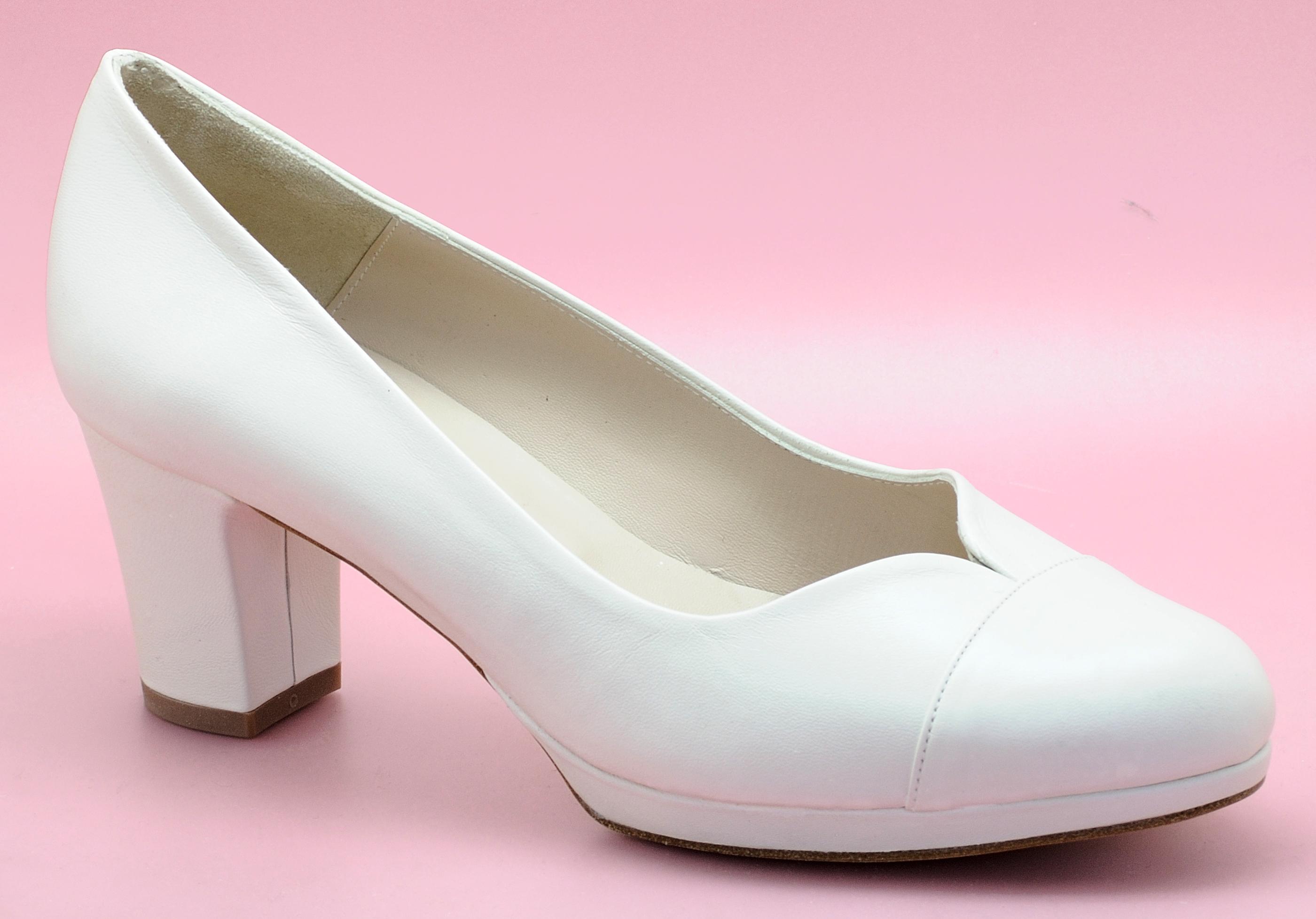 Zapatos de novia cómodos - Modelo Marisa - Ancho especial